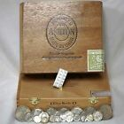 VALCAMBI 24kt SOLID GOLD SILVER BAR USA COINS CIGAR BOX ESTATE SALE STARTER KIT