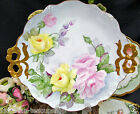 LIMOGES FRANCE LARGE PLATTER CHARGER HAND PAINTED ROSES A/F