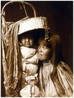 8197Native american woman holds baby with TikinaganPOSTERart wall decoration
