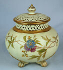 Grainger's Royal Worcester Antique English Reticulated Potpourri Bowl with Cover