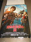 HOW TO TRAIN YOUR DRAGON 2 ORIG US ONE SHEET MOVIE POSTER (ANIMATED )DS