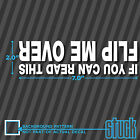 If You Can Read This Flip Me Over 7 x 2 vinyl decal sticker offroad jeep