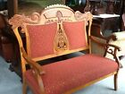 Antique Lions head carved Loveseat
