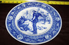 WEDGWOOD FLOW BLUE EXTORTING SIL antique decor plate vtg
