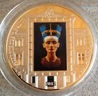 Egypt Large 55mm Marsterpieces Of Art Coin 2012 .999 Silver Finished + Capsule