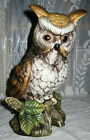 **CERAMIC LIFE-SIZE OWL ROTATING MUSIC BOX** It's a Small World