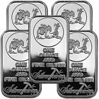 SilverTowne Logo 1oz .999 Fine Silver Bar LOT OF 5 #6332