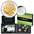 2013 Six Coin PROOF Set & Rare Elite Australia First Selectively Gold Plated 20c