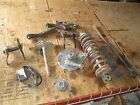 80 Kawasaki KDX175 Fork Covers Monoshock Linkage Rear Axle & Brake Hub Parts Lot