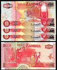 SZ3 ZAMBIA 50 KWACHA 2001 UNCIRCULATED  P.37c 3 NOTES IN SEQUENCE
