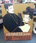 VINTAGE 2001 STARBUCKS VIENNESE BLEND COFFEE PICTURE POSTER BOARD