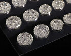 CraftbuddyUS CB70CL 50 Self Adhesive Crystal Diamnte Rhinestone Moon Rock Gems