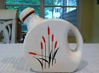 Rare Vintage CATTAIL ICEBOX WATER JUG  by Universal Cambridge Ovenproof Pottery