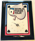 WORLD POKER TOUR WALL CLOCK - WPT MICHIGAN LOTTERY WINNING PRIZE - JEBCO - NIB