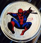 SPIDERMAN COIN Clad Finished in Silver .999 Collectors Kids Token Medal Comic