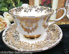 PARAGON TEA CUP AND SAUCER GOLD GILT SCROLL PATTERN TEACUP