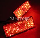 2x Motorcycle Bike Truck 24 LED Rectangle Reflector Tail Brake Marker Light Red