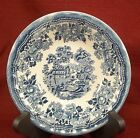 {1.21.14} Churchill Tonquin Blue Cereal Bowl, Transfer ware, Swirl Coupe Shape