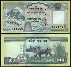 NEPAL 2008 (ND) Rs 100 Mt. EVEREST, Rhino,  Banknote Pick 64, Signature - 17 UNC