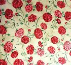 1 Yard Red Carnations Floral 100 Cotton Northcott Quilting Fabric