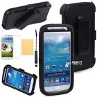 Defender Case W/Built in Screen Protector & Holster for Samsung Galaxy S4 Black