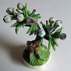 Capodimonte Flower Bonsai Tree Porcelain Italy Vintage