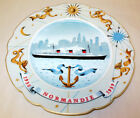 RARE Limoges SS Normandie Ocean Liner Commemorative Plate Signed Limited Edition