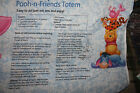 Item2783: Cotton Fabric Disney Pooh and Friends Totem Panel Eyeore piglet tigger