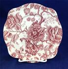 Johnson Brothers English CHIPPENDALE PINK Square Salad Plate GREAT CONDITION