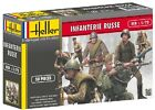 Plastic Toy Soldiers 1/72 WWII Russian Infantry 50 Figures Heller Box Set 49603