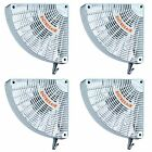 4 X Woodstove pellet Gas stove fireplace warm air circulating doorway corner FAN