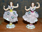 German Marked Porcelain Art Nouveau Ballerina Dancers Dolls Figurines Flowers