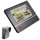 Touch Pad Super Thin 7 Color LCD Video Camera Door Phone Visible Doorbell BK