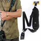 Black Single Shoulder Sling Belt Strap for DSLR SLR Camera Quick Rapid AP