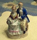 Maruyama Colonial Man & Woman Figurine Made in Occupied Japan Vintage Porcelain