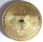 Bitcoin Bit Coin collectable With capsule Finished In Gold .999 24k 1oz Our Last