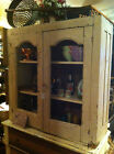 Antique Primitive architectural salvage Hutch  China Cabinet Cupboard J