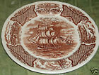 Alfred Meakin Fair WindsThe Friendship of Salem Ships Brown Transferware-AWESOME