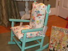 Vintage Childs Rocking Chair Freshly Painted Using CeCe Caldwells Chalk Paint