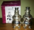 NEW International Silver Company  SNOWMAN SALT AND PEPPER SHAKERS new in box