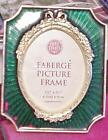 Faberge Picture Frame Past Times Guilloché Green enamel Metal Oval center
