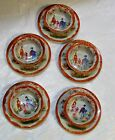Antique Japanese Porcelain Plate and Bowl Set of 10 Hand Painted