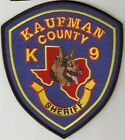 KAUFMAN COUNTY CO TEXAS TX SHERIFF K9 K-9 CANINE DOG TEAM STATE OUTLINE GS