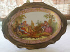 Antique Vintage French Scenery Hand-Painted Plate Wall Decor `F.K. Kaestner
