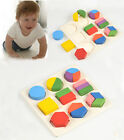 Wooden Develop Learning Colour Shape Aliquots Puzzle Toy Baby Bricks Blocks Toy