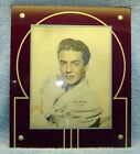 Vintage ART DECO Glass Picture Frame, REVERSE PAINTED 13 x 11