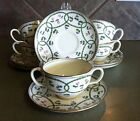 VINTAGE MINTON 6 BOUILLON CUPS AND SAUCERS PATTERN H 1011