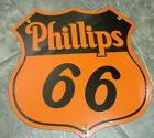 PHILLIPS 66 gas oil Porcelain / heavy metal Sign (orange)