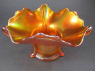 Vintage Northwood Drapery Candy Dish Pumpkin Marigold Carnival Glass SCARCE
