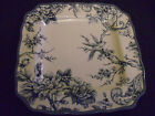222 Fifth  Blue Adelaide French Toile Bird Dinner Plate